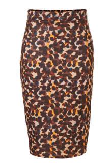 Plus aansluitende rok met leopard print