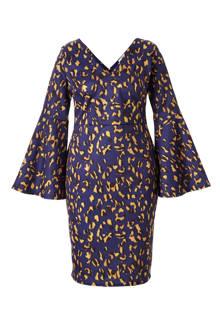 Plus jurk met luipaardprint