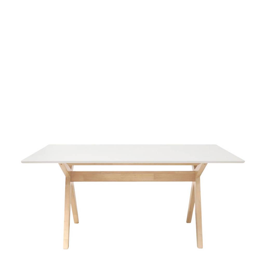 anytime Eettafel Valerio 160 cm, Wit/Whitewash