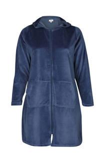 Paprika fluwelen badjas blauw  (dames)