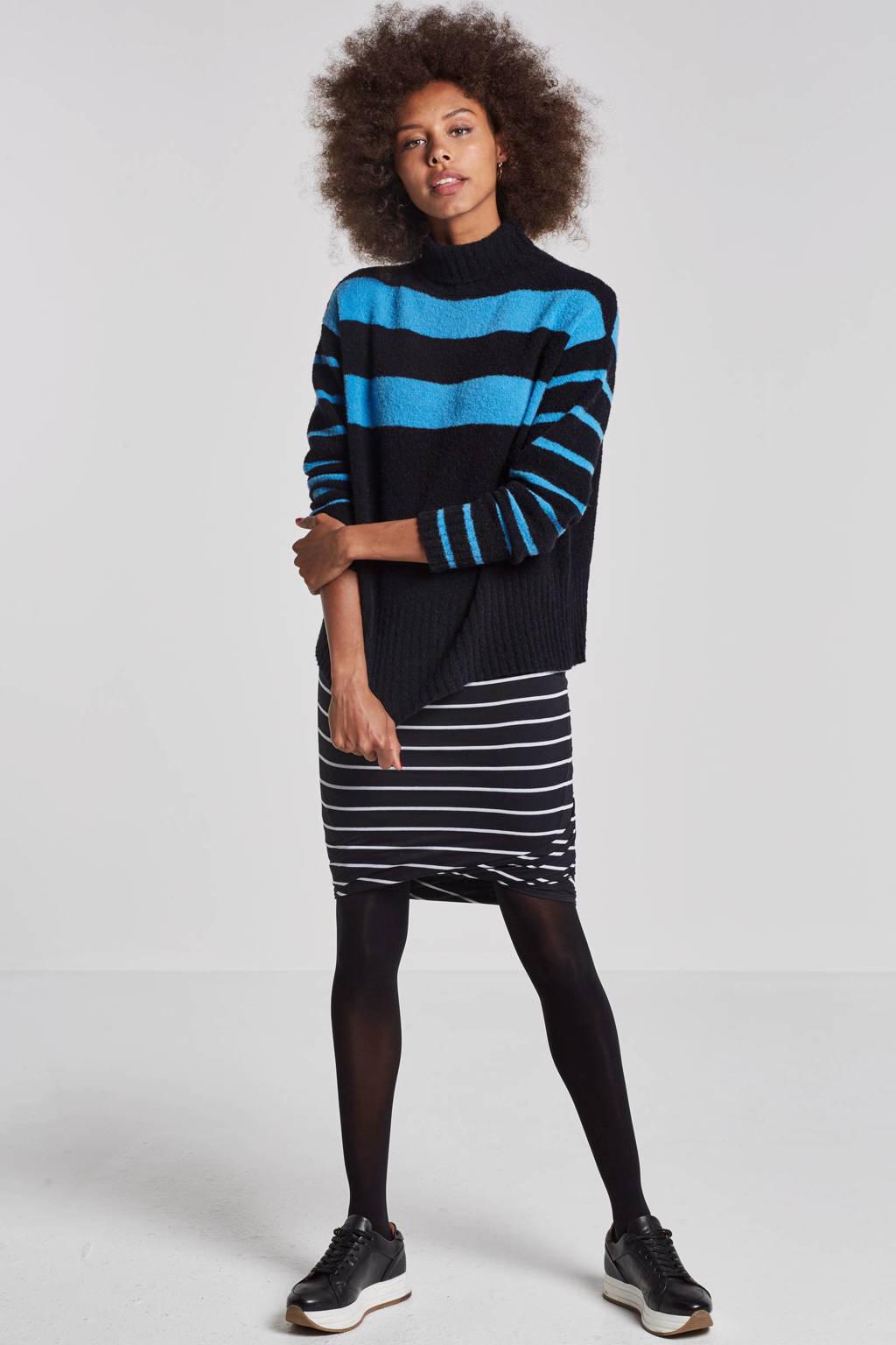 10DAYS trui met wol, Zwart/blauw