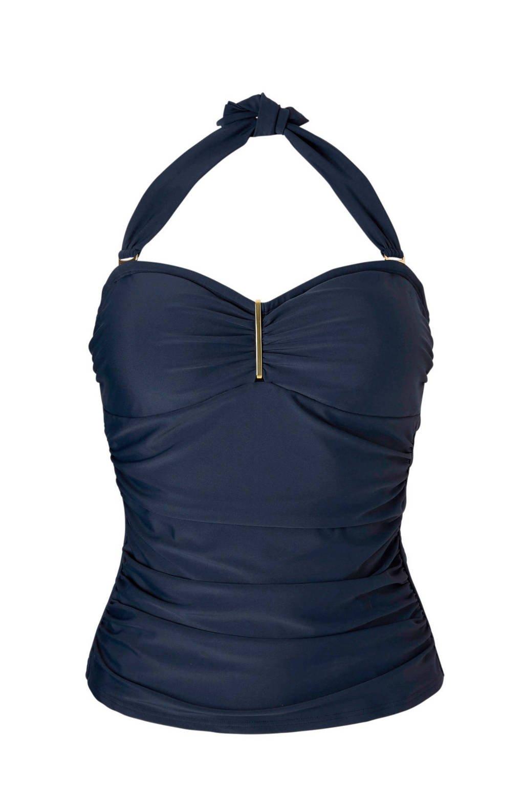 whkmp's beachwave tankini bikinitop uni blauw, Blauw