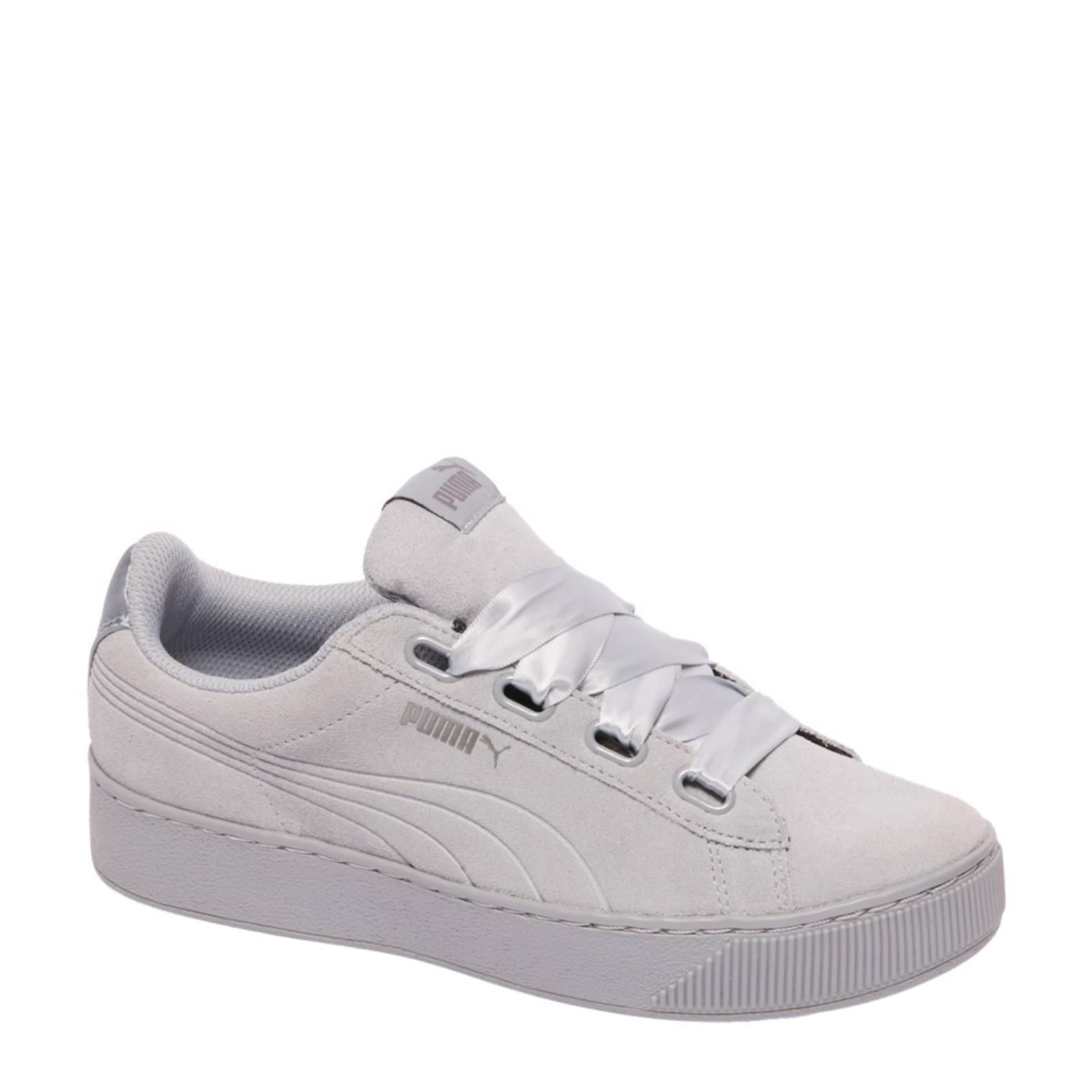 Vikky Platform Ribbon suède sneakers