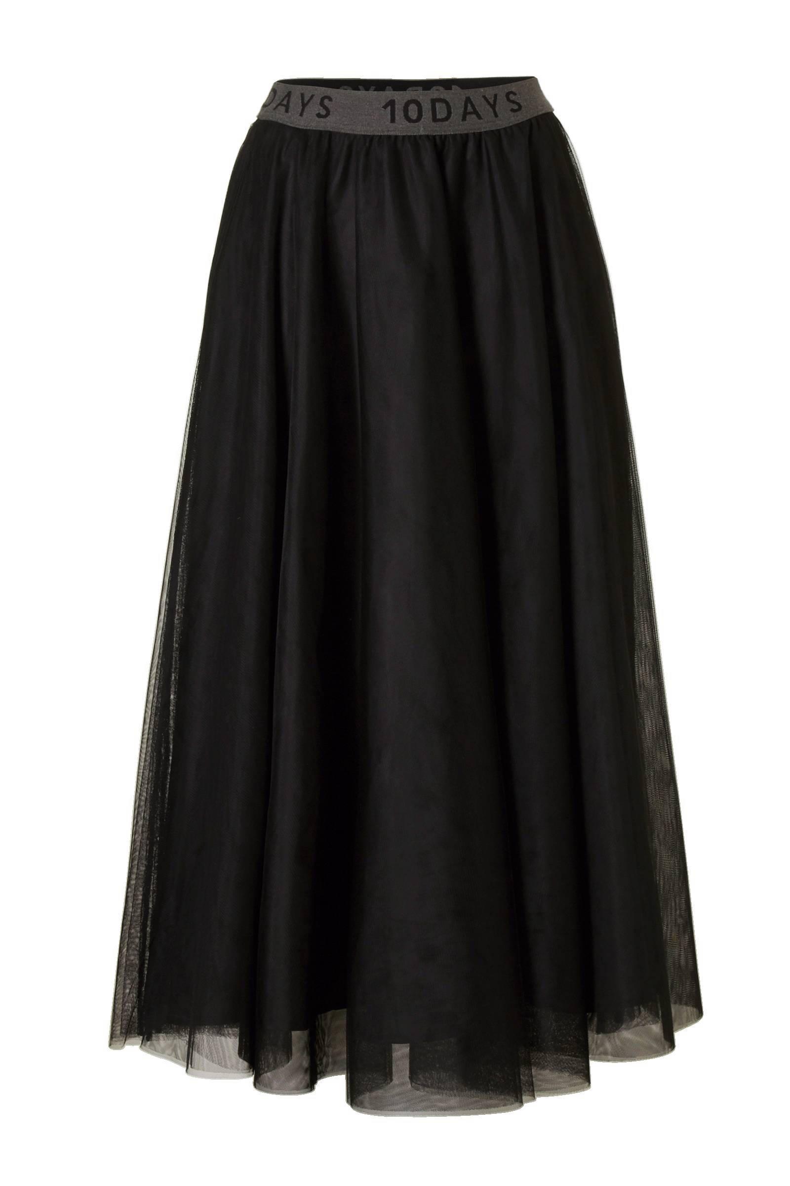 lange zwarte rok zonder split