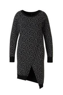 Asymmetric leopard jurk