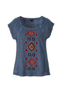 T-shirt met borduursels
