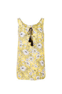 Miss Etam Regulier mouwloze top met bloemen geel (dames)