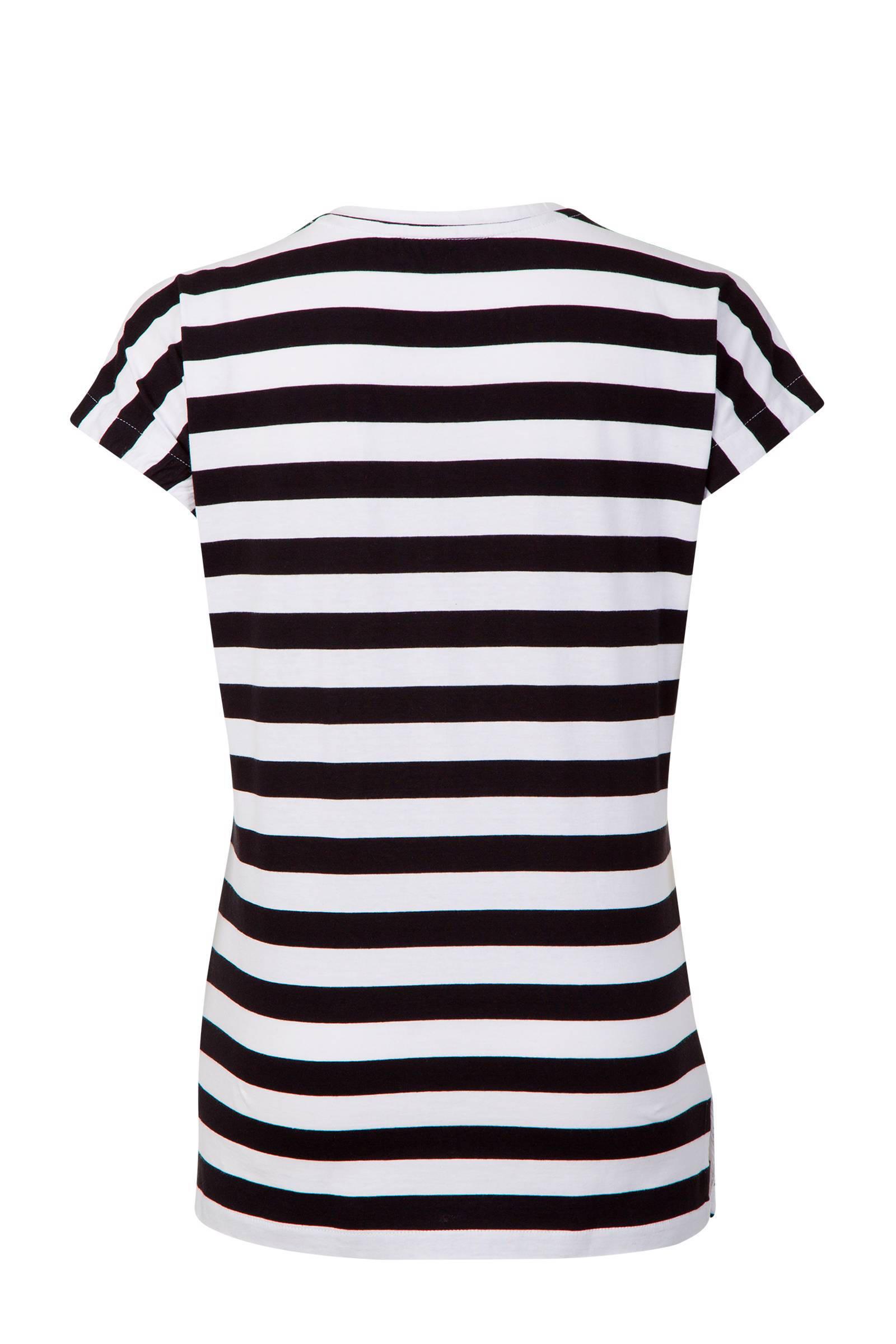 Bedwelming Miss Etam Regulier gestreept T-shirt zwart/wit | wehkamp &WH62