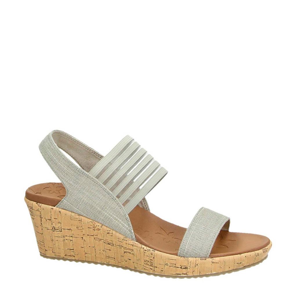 Skechers Luxe Foam sandalettes, Taupe