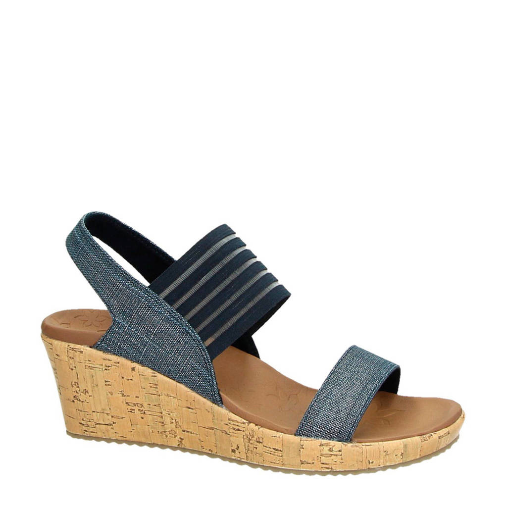 Skechers Luxe Foam sandalettes, Blauw