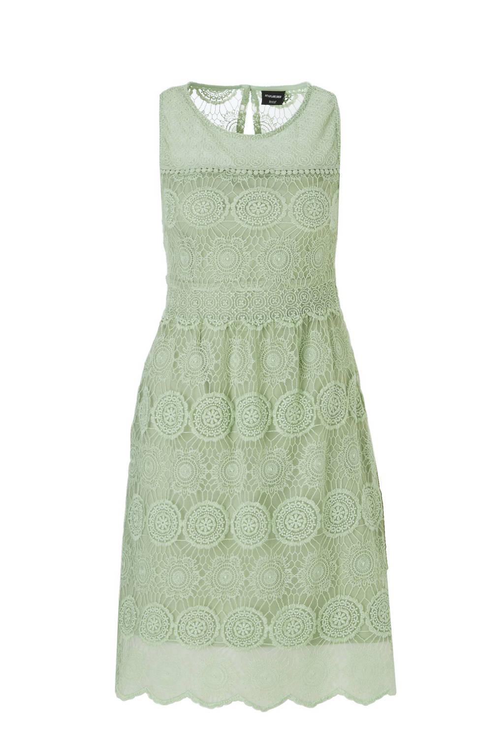 C&A Yessica kanten jurk groen, Groen