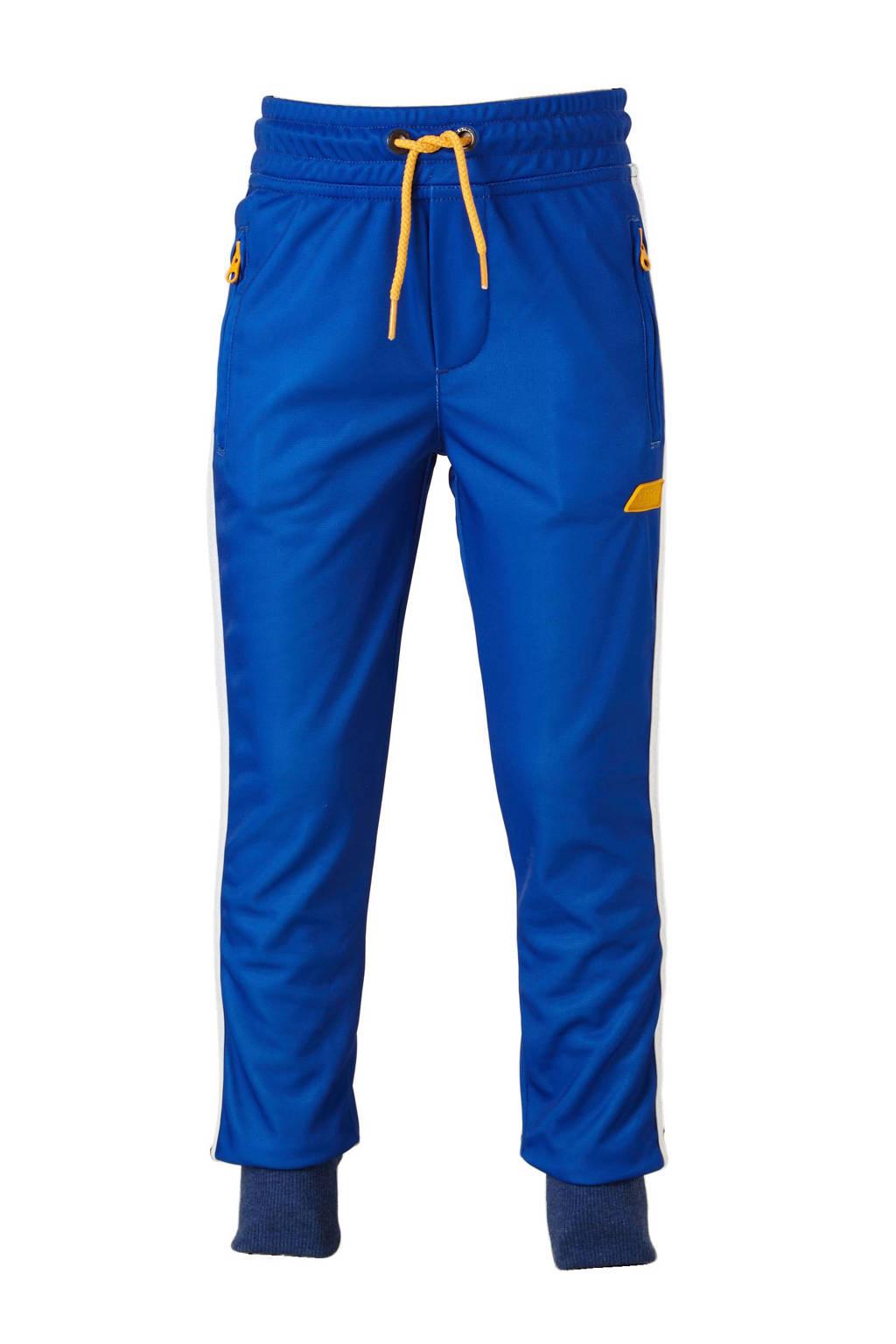 Vingino sportbroek Sorrip, Kobaltblauw/ wit/ geel
