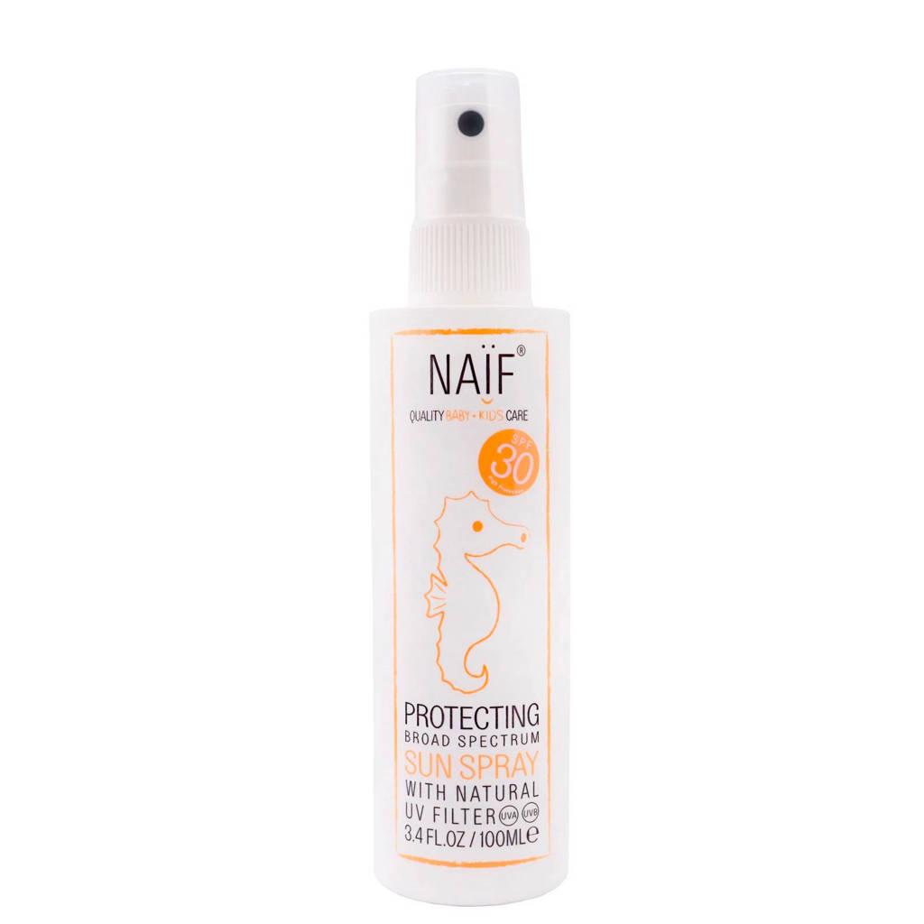 NAÏF Baby & Kids zonnebrand spray SPF30 - 100 ml, Melkspray