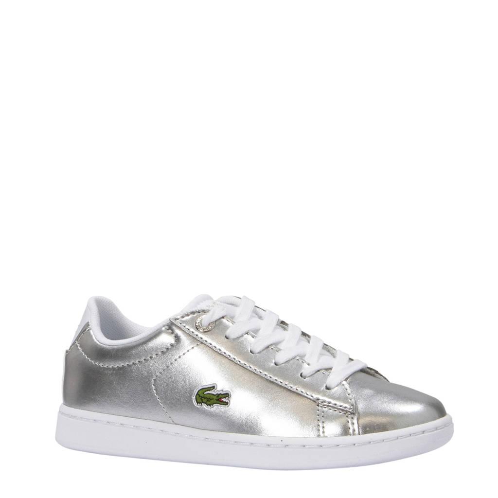 Lacoste  Carnaby Evo sneakers zilver, Zilver/wit