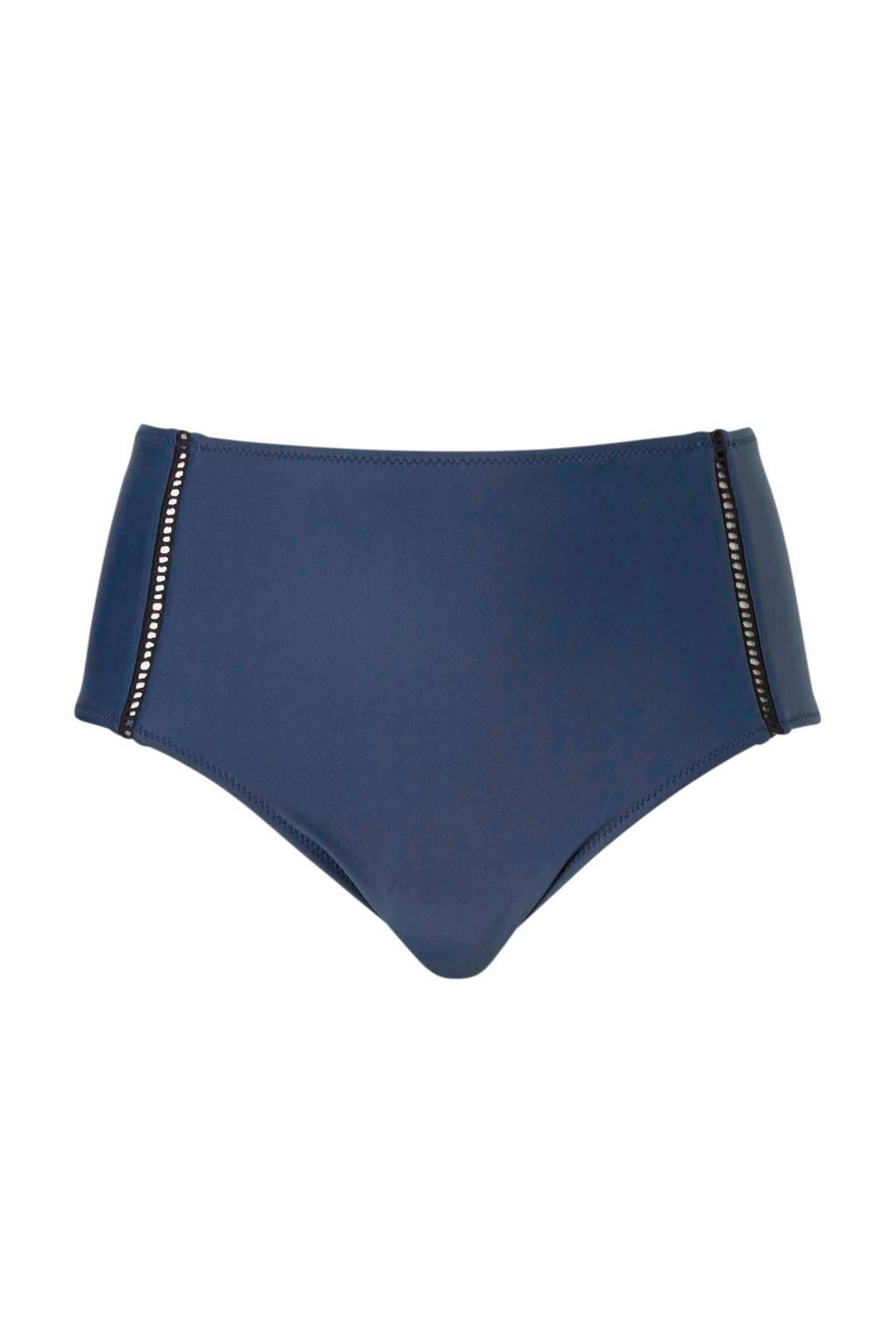 whkmp's beachwave Mix & Match corrigerend broekje high waist blauw, Blauw/zwart