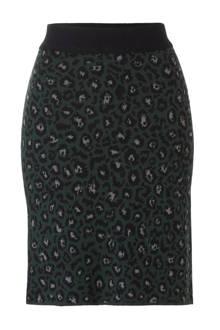 gebreide rok met panterprint
