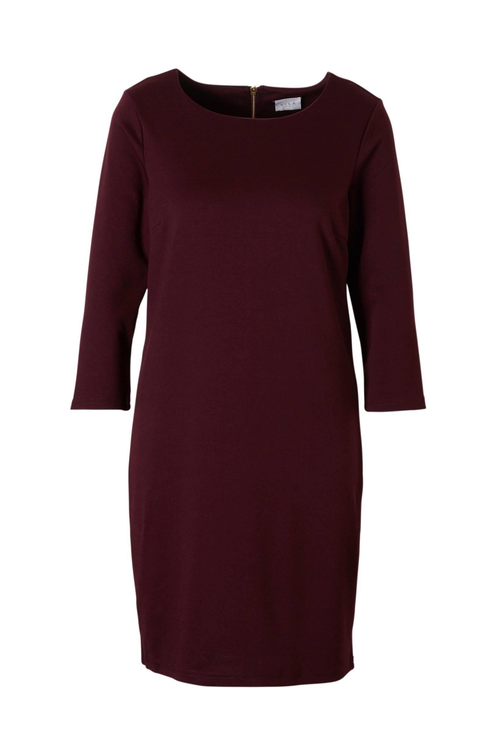 aubergine kleurige jurk