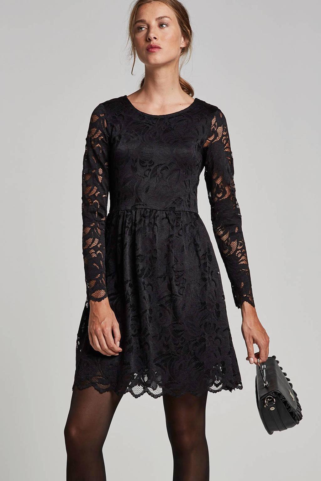 VILA kanten jurk, Zwart