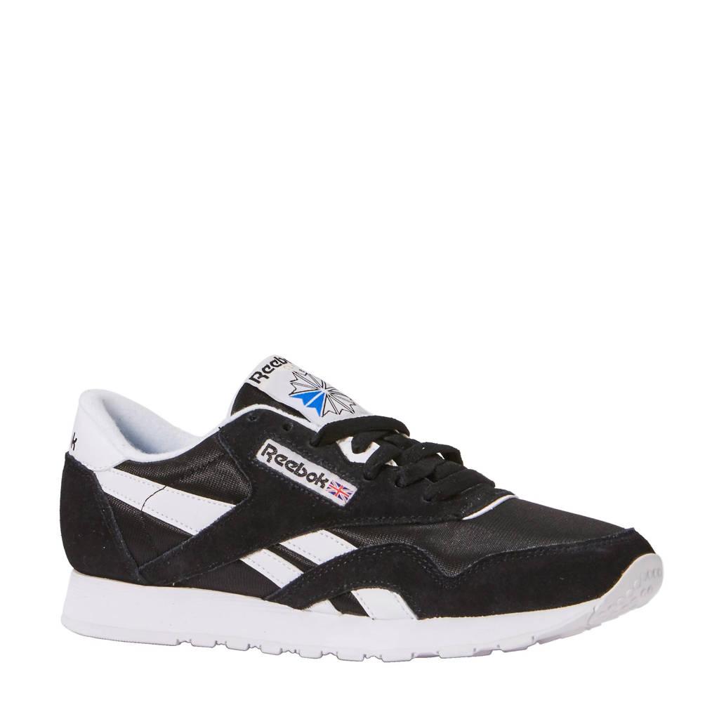 Reebok Classics   Nylon sneakers, zwart/ wit