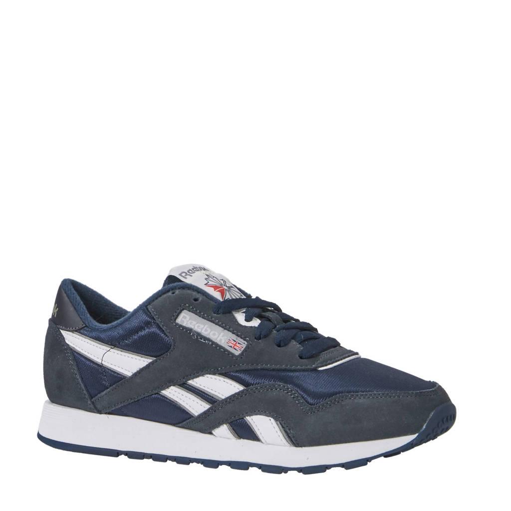 Reebok Classics  Nylon sneakers, Donkerblauw/wit