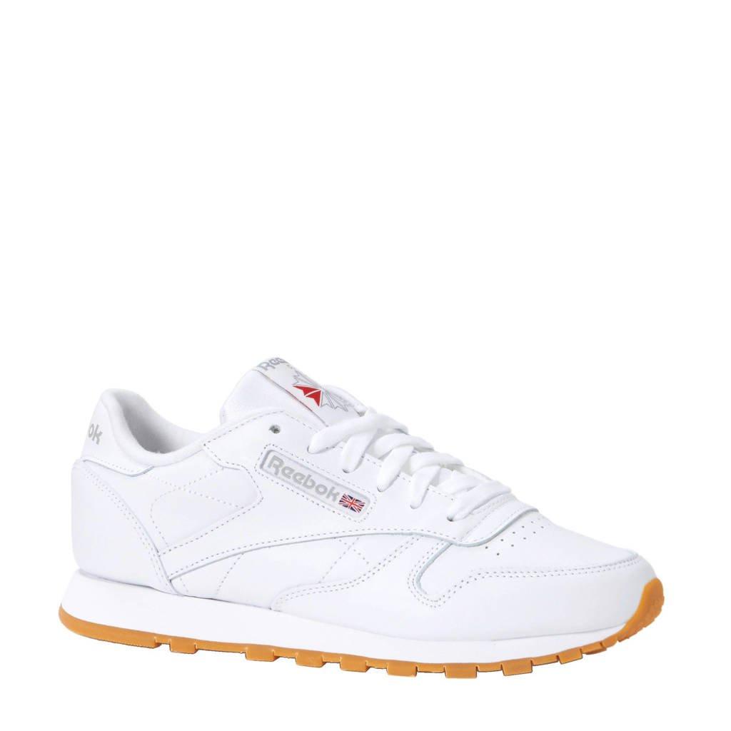 Reebok  sneakers CL LTHR, Wit/ bruin