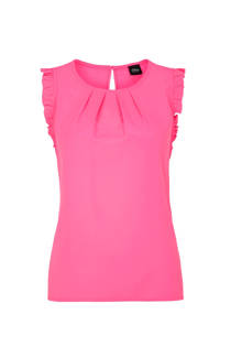 s.Oliver BLACK LABEL top met ruches - roze (dames)