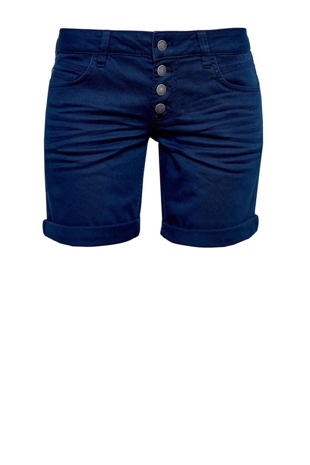 Q/S designed by regular fit short donkerblauw, Donkerblauw