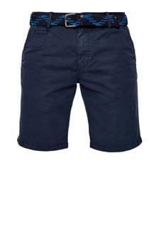 regular fit chino bermuda marineblauw