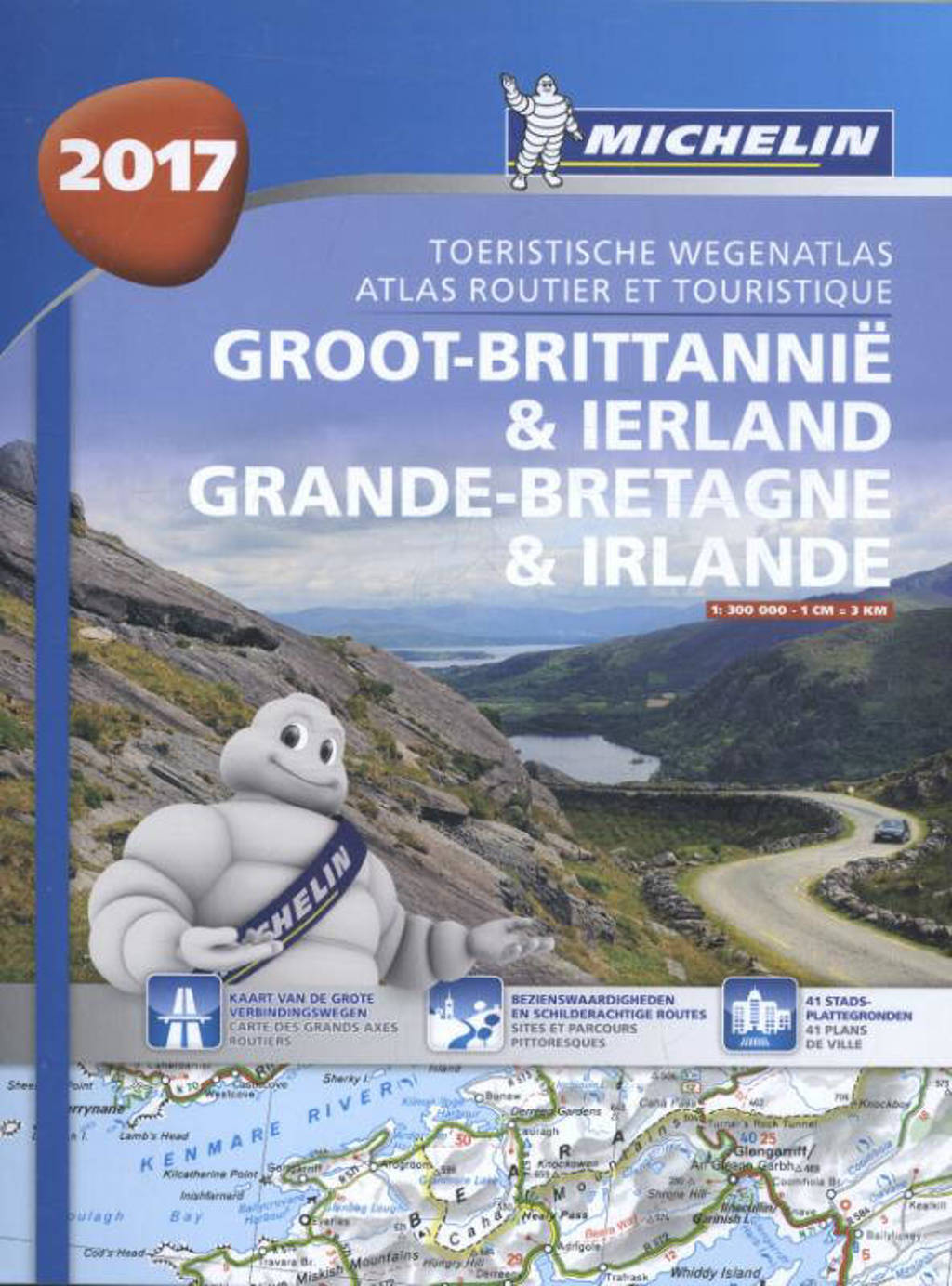 Atlas Michelin Groot-Brittannie & Ierland 2017