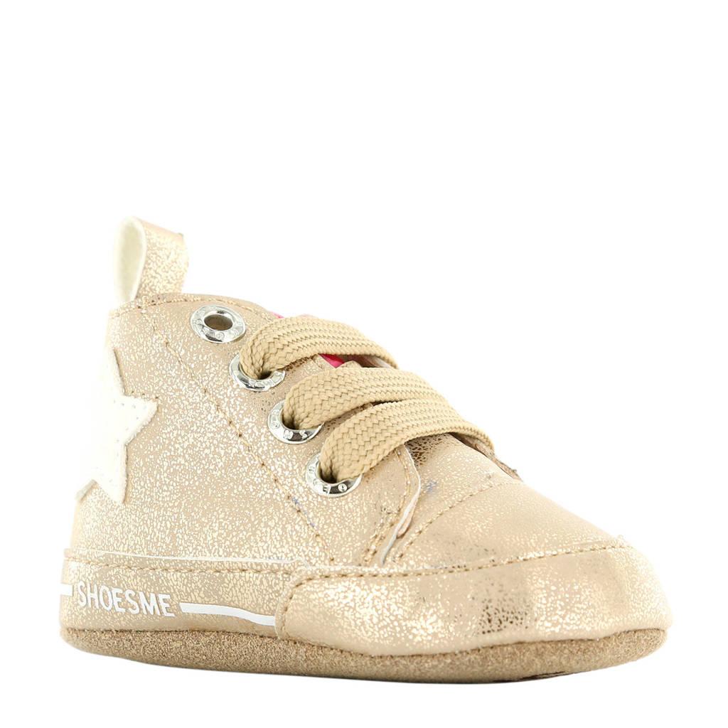 Shoesme leren babyschoenen beige, beige metallic