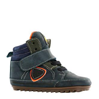 leren sneakers marine