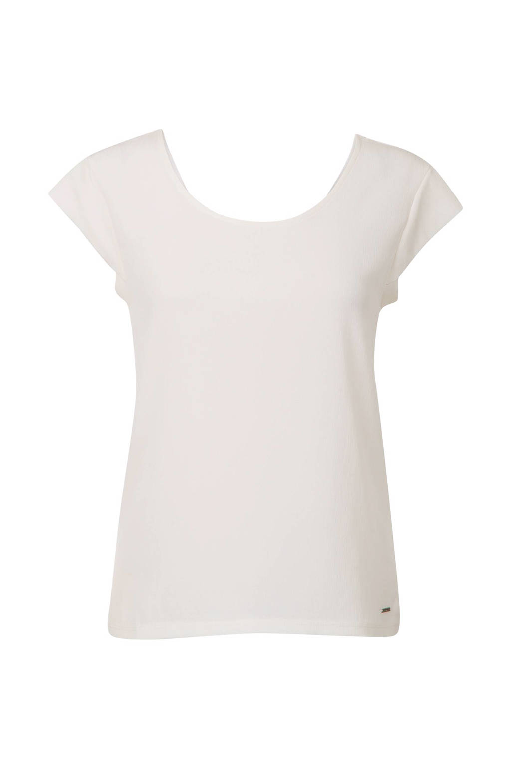 Promiss T-shirt met uitsnede gebroken wit, Gebroken wit