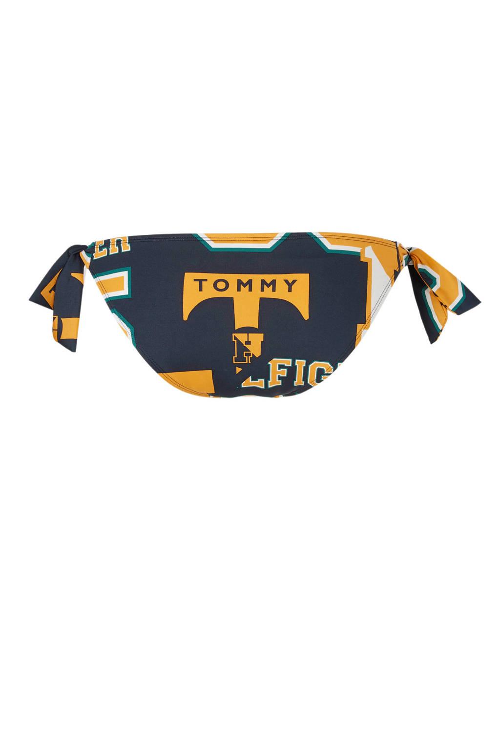 Tommy Hilfiger Mix & Match strikbroekje met print marine, Marine/geel/groen