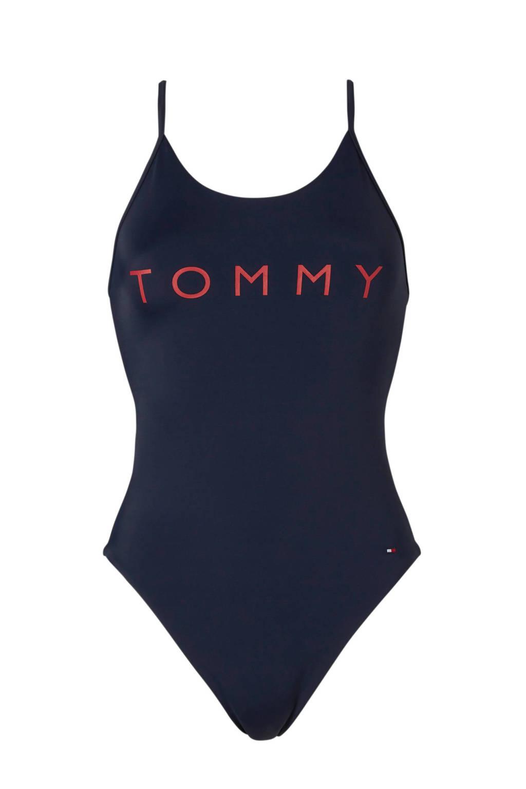 Tommy Hilfiger badpak marine, Marine/rood