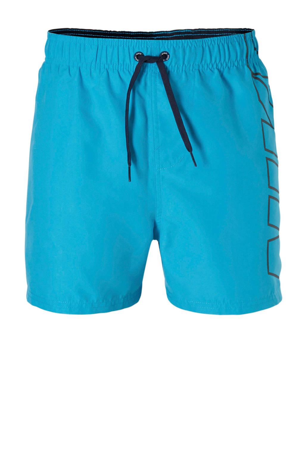 Nike zwemshort met merknaam blauw, Blauw