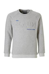 Scotch & Soda sweater met logo grijs (jongens)
