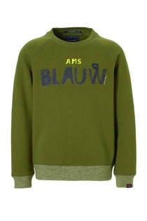 Scotch & Soda sweater met logo groen (jongens)