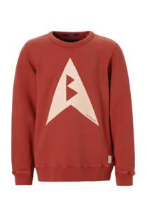 Scotch & Soda sweater met printopdruk rood (jongens)
