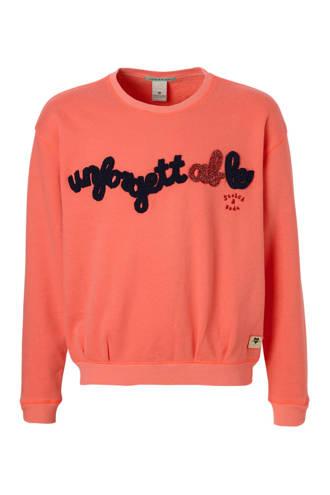 sweater met tekst roze
