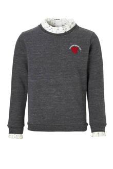sweater met ruches grijs