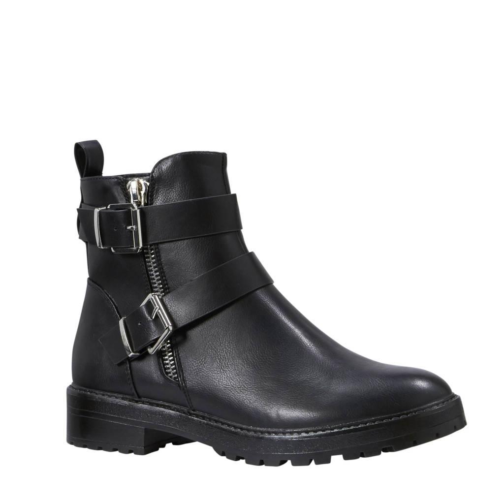 ONLY laarzen met ceintuur details, Zwart