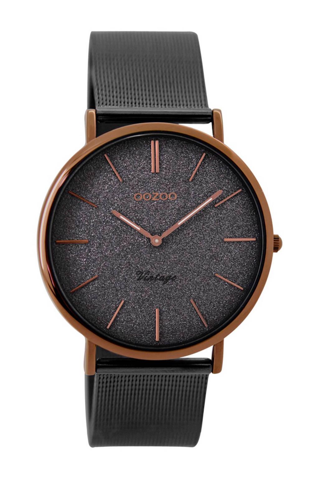 OOZOO Vintage horloge - C8862, Grijs