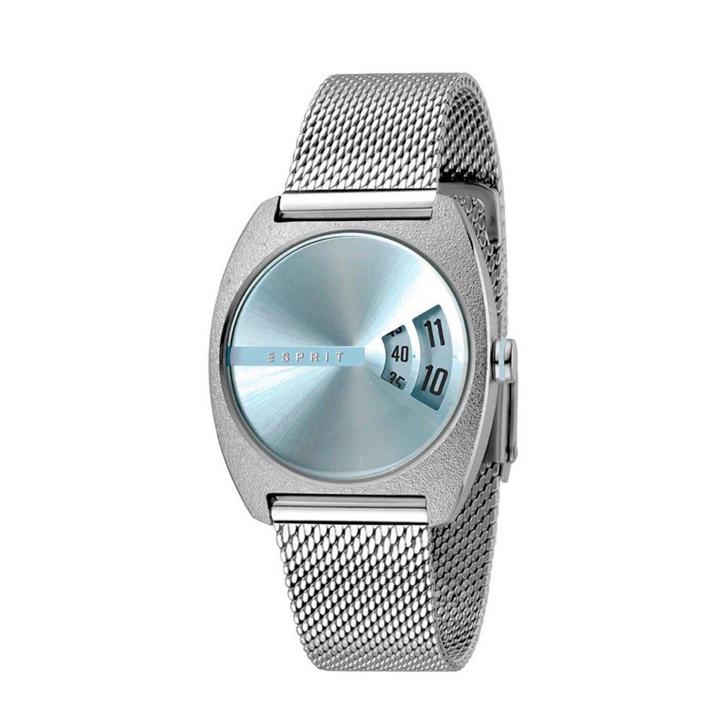 ESPRIT horloge - ES1L036M0045, Zilver/blauw