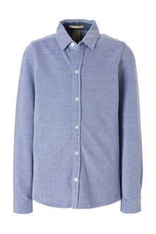 jersey overhemd blauw