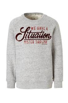 sweater met tekst grijs