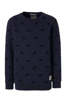 sweater met panters donkerblauw