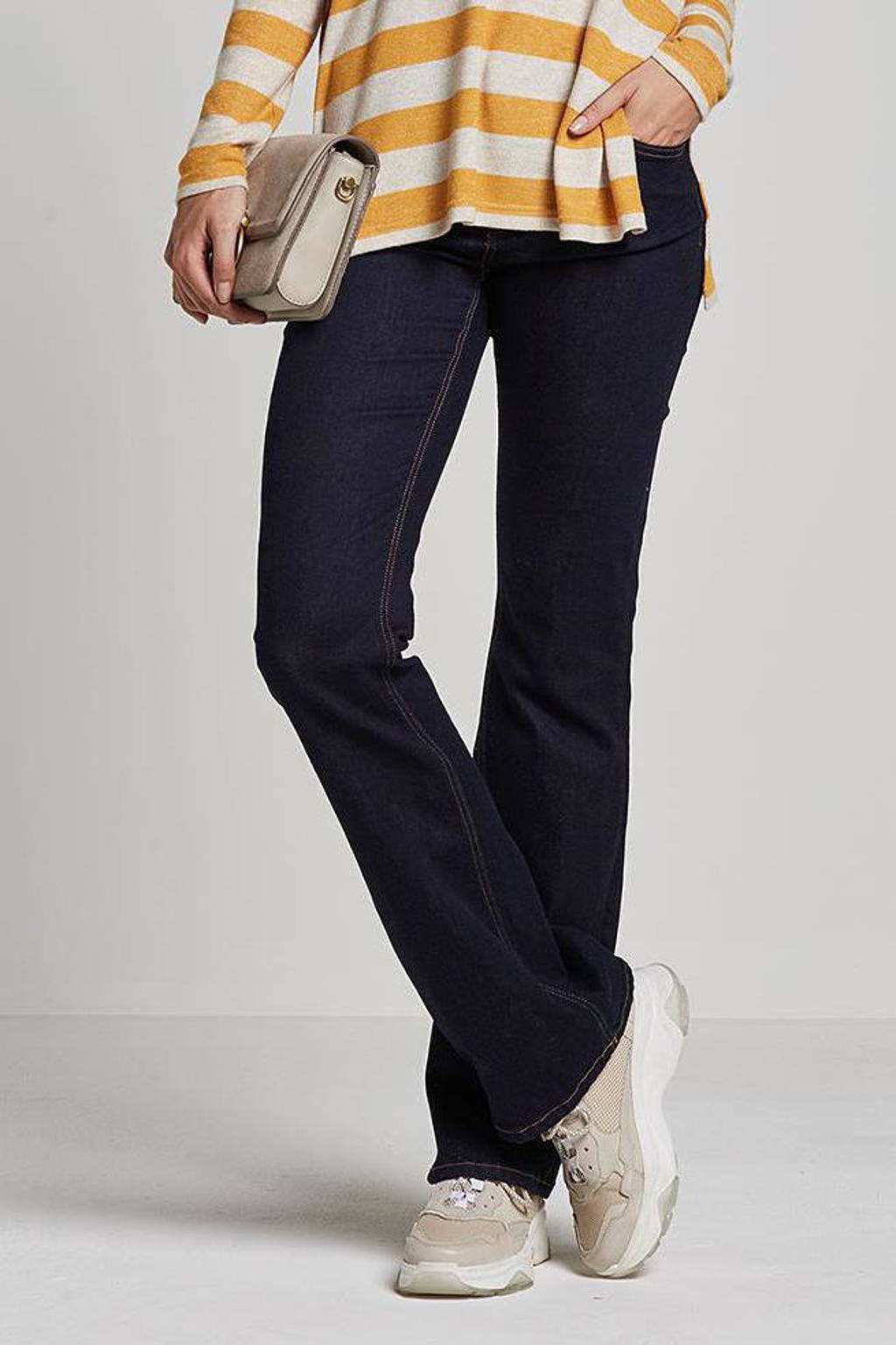 JACQUELINE DE YONG flared jeans, Donkerblauw