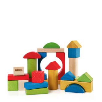 houten Gekleurde blokken 25 stuks