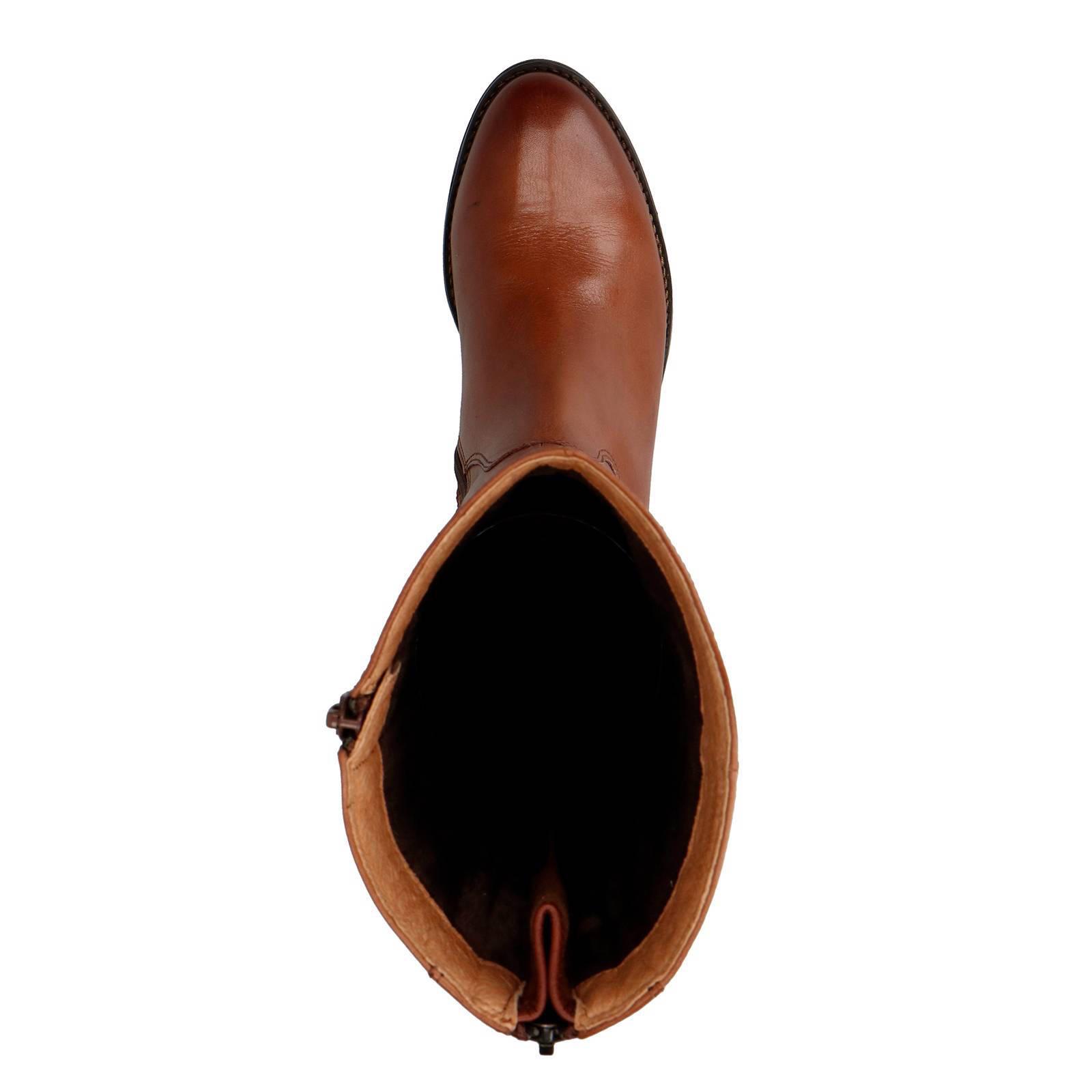 Uitgelezene No Stress leren laarzen cognac | wehkamp OT-48