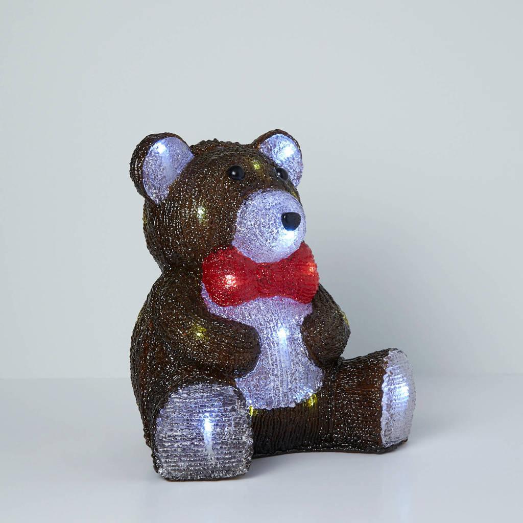 Luca Lighting verlichte zittende beer, Bruin